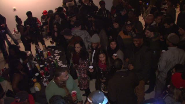 ATMOSPHERE Party guests at Red Bull Studios New York on March 26 2014 in New York City