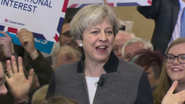 UK party leaders are in full campaign mode after Theresa May's call for a snap general election Interior shots of Conservative Prime Minister Theresa...