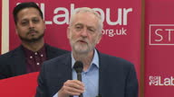 UK party leaders are in full campaign mode after Theresa May's call for a snap general election Interior shots Labour Party Leader Jeremy Corbyn...