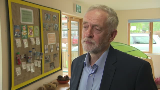 UK party leaders are in full campaign mode after Theresa May's call for a snap general election Interior shots interview grabs Labour Party Leader...