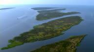 Pascagoula Bay's Twin Islands jut into the Gulf of Mexico.