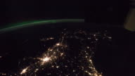 ISS Pass from Mexico to Maine - Timelapse