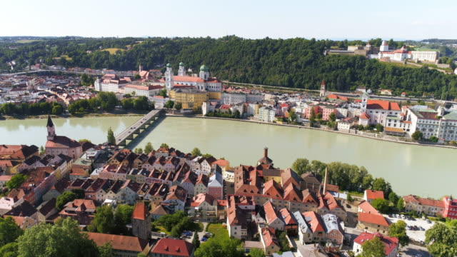 Passau And Inn River From The South