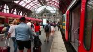 Passenger traffic in Antwerp Central Station