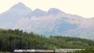 WS AMTRAK Passenger train at Marias Pass and Glacier National Park, Montana, USA