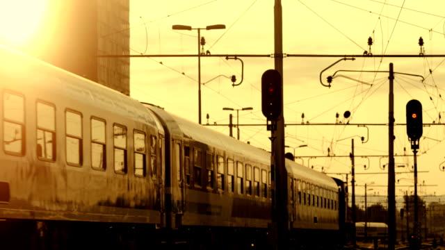 HD: Passenger Train Leaving A Station