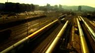 Passenger Train Leaving A Station