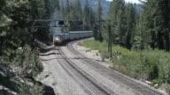 Passenger Train Through The Mountains