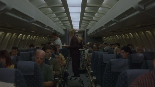 Passengers are thrown from their airplane seats.