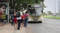 LS Passengers board a bus in Brasilia / Brasilia, Brazil