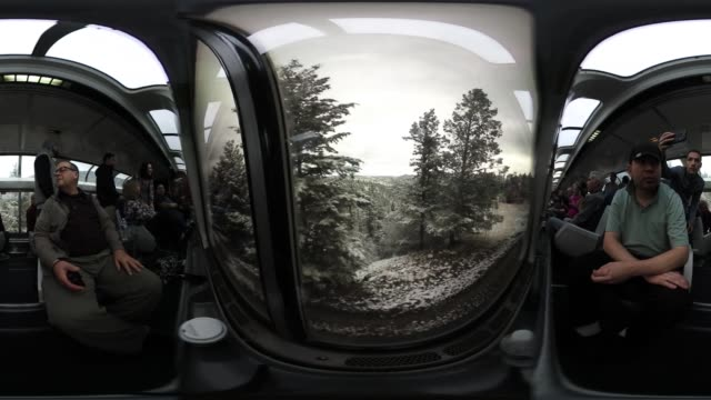 'Passengers enjoy the view from Amtrak's California Zephyr sightseer lounge car during its daily 2438mile trip to Emeryville/San Francisco from...