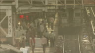 .Passengers walk through Jaipur Railway Station. Available in HD