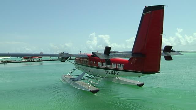 Passing sea plane Male Maldives