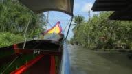Passing Shot Boat in Canal Bangkok Thailand