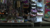 Passing Shot Shops Floating Market Bangkok Thailand