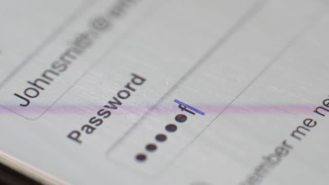 Passwort auf computer-Bildschirm