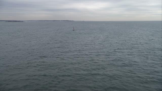Past buoys on Fishers Island Sound, New York. Shot in November 2011.