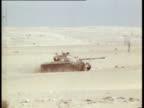 Sinai Mitla Pass EXT Israeli Soltam L33 155mm self propelled guns in action Israeli M60 tank quickly along Soltam guns used shell casings M60 tank...