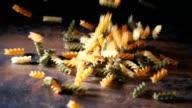 Pasta Fusilli Tri Colore Falling Down