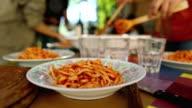 Pasta matriciana is ready