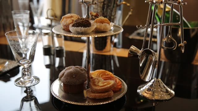 Pastries on cakestands