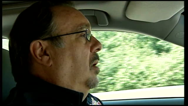 Pat Goss interview SOT EXT Car along road INT Pat Goss interview SOT