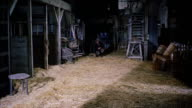MS Patches of burning straw in barn