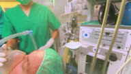 Patient being operated