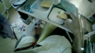 A patient during the dialysis treatment