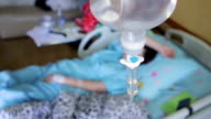 Patient in Hospital with Saline Solution