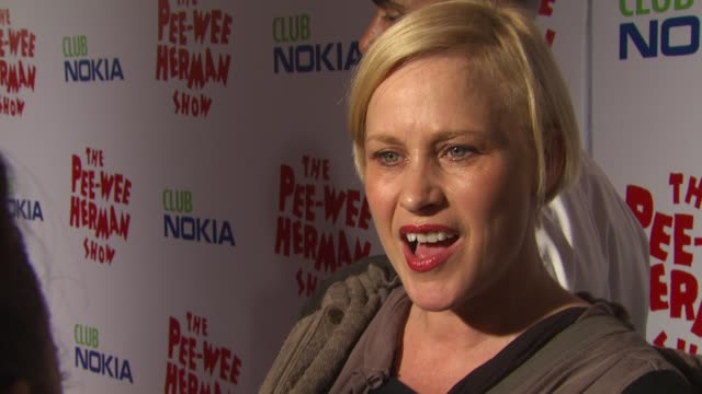 Patricia Arquette at the 'The Peewee Herman Show' Opening Night at Los Angeles CA