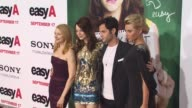 Patricia Clarkson Emma Stone Penn Badgley Alyson Michalka at the 'Easy A' Premiere at Los Angeles CA