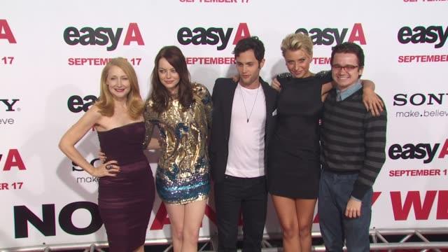 Patricia Clarkson Emma Stone Penn Badgley Alyson Michalka at the 'Easy A' Premiere at Los Angeles CA