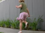Patriotic Child: Dancing while Waving USA Flag