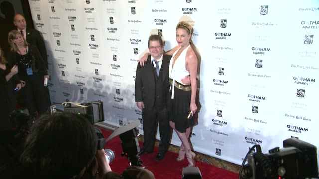 Patton Oswalt and Charlize Theron at the IFP's 21st Annual Gotham Independent Film Awards Red Carpet at New York NY