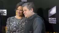 Patton Oswalt Meredith Salenger at the Premiere Of AMC's 'Preacher' Season 2 on June 20 2017 in Los Angeles California