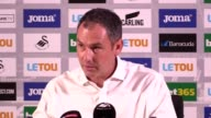 Paul Clement reacts to Swansea's 40 defeat to Manchester United He says they were competitive for long periods of time He says they were disappointed...