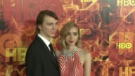 Paul Dano and Zoe Kazan at the 2015 HBO Emmy After Party at The Plaza at the Pacific Design Center on September 20 2015 in Los Angeles California