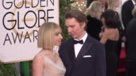 Paul Dano and Zoe Kazan at the 73rd Annual Golden Globe Awards Arrivals at The Beverly Hilton Hotel on January 10 2016 in Beverly Hills California 4K