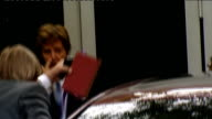 departures and arrivals ENGLAND London PHOTOGRAPHY * * Sir Paul McCartney and his fiancee Nancy Shevell out of door as into car