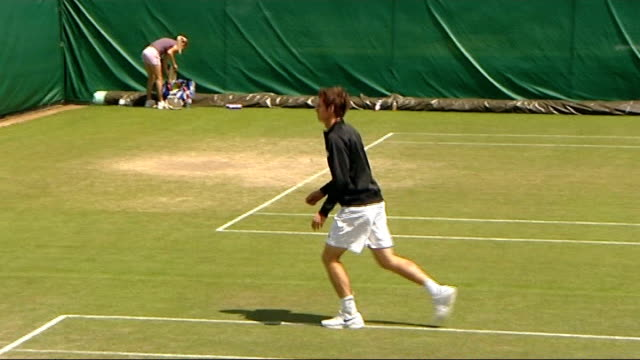 Paul Tonkinson studio interview Recent Andy Murray warming up and training at Wimbledon