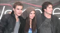 Paul Wesley Nina Dobrev and Ian Somerhalder of The Vampire Diaries in Topanga mall at the Celebrity Sightings in Los Angeles at Los Angeles CA