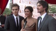 Paul Wesley Nina Dobrev Ian Somerhalder on having a memorable week On how fun it is to be out of their working bubble and seeing their fans and...