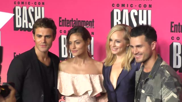 Paul Wesley Phoebe Tonkin Candice King Michael Malarkey at the Entertainment Weekly San Diego Comic Con Party