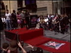 Paula Abdul at the Dediction of Ryan Seacrest's Walk of Fame Star at the Hollywood Walk of Fame in Hollywood California on April 20 2005