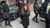 Paula Abdul at the Late Show in New York