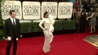 Paula Patton at the 71st Annual Golden Globe Awards Arrivals at The Beverly Hilton Hotel on in Beverly Hills California