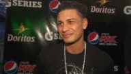 Pauly D on who he wants to win the Super Bowl and why at the Lenny Kravitz and DJ Pauly D Perform At Pepsico Party at Dallas TX