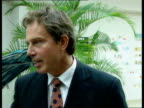 Unknown location Tony Blair MP into Toyota building and is greeted by officials Tony Blair MP intvwd Have not taken the full salary for the last...