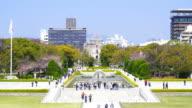 peace memorial park in Hiroshima, Japan